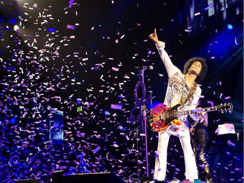 Prince wearing Spencer Derry art