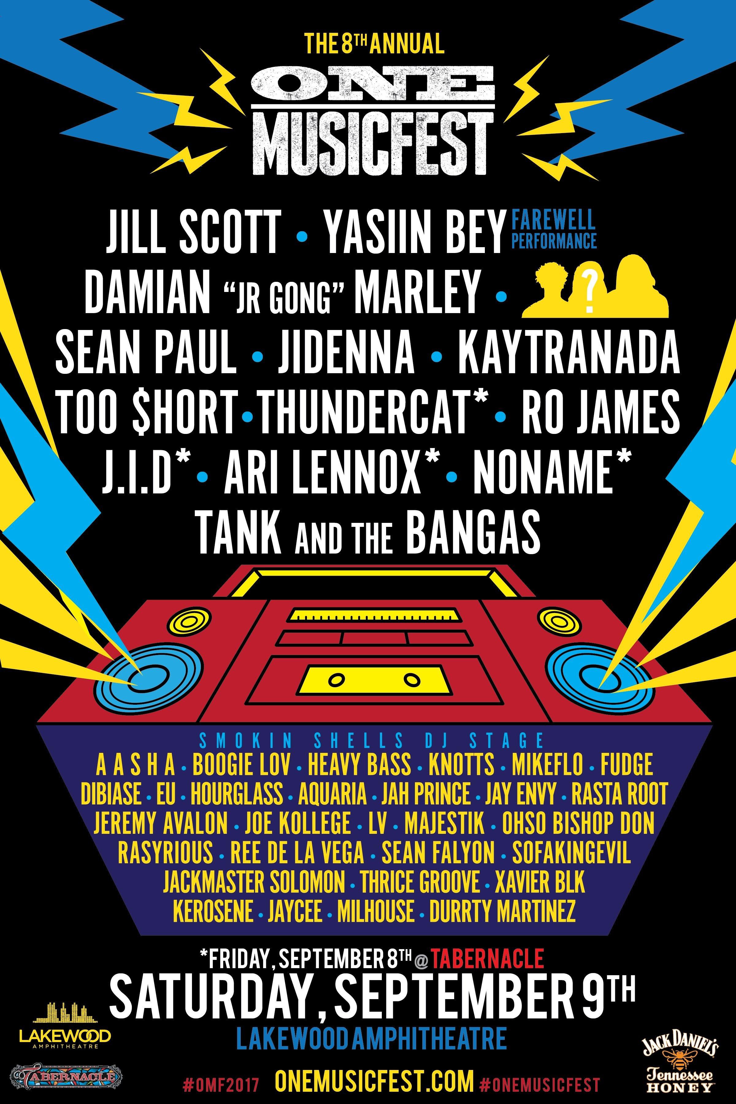 One MusicFest 2017 Atlanta lineup